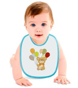 """Слюнявчик """"Мишка"""" - медведь, мишка, рисунок, детский, шарик"""