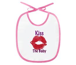 """Слюнявчик """"Kiss The Baby"""" - в подарок, baby, kiss, оригинально"""