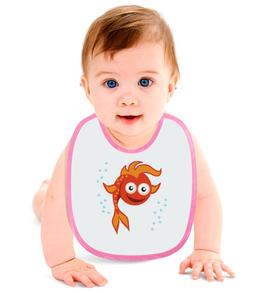 """Слюнявчик """"Золотая Рыбка"""" - море, детский, сказка, рыба, золотая рыбка"""