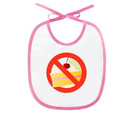 "Слюнявчик ""NO CAKE"" - logo, знак, логотип, символ"