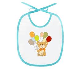 """Слюнявчик """"Мишка"""" - медведь, мишка, шарик, рисунок, детский"""