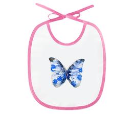 "Слюнявчик ""Бабочка"" - бабочка, животное, рисунок, иллюстрация, дизайн"