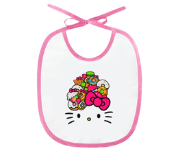 "Слюнявчик ""Hello Kitty"" - кошка, арт, hello kitty, мультфильм, хелло китти"