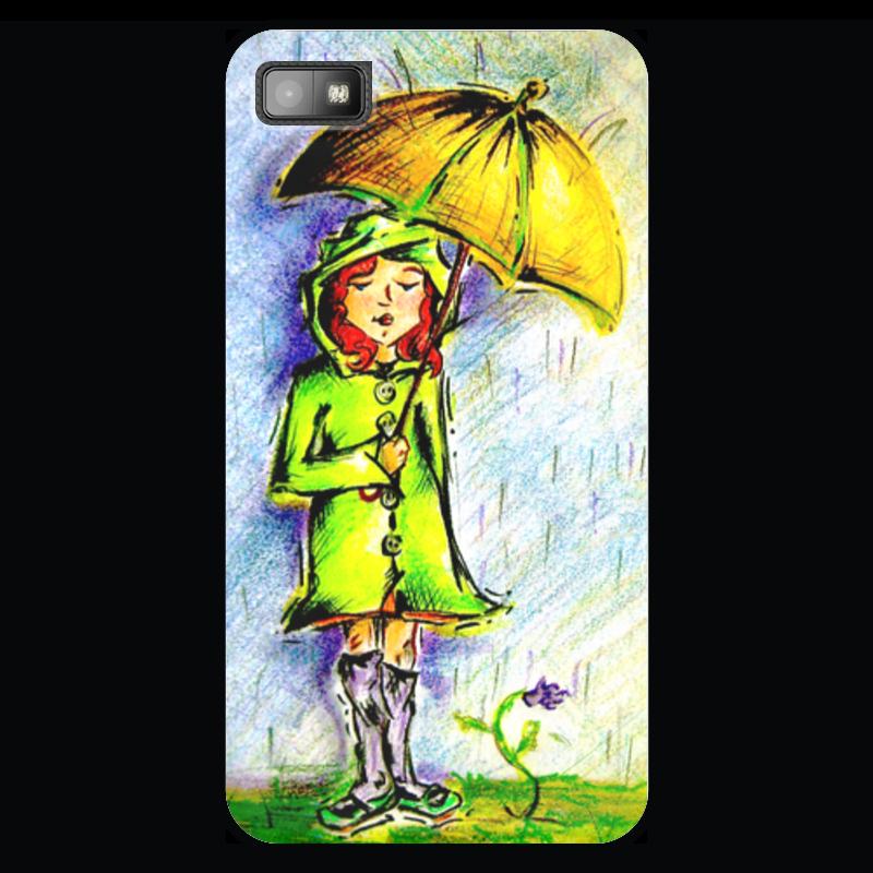 Чехол для Blackberry Z10 Printio Дождик, дождик, уходи!