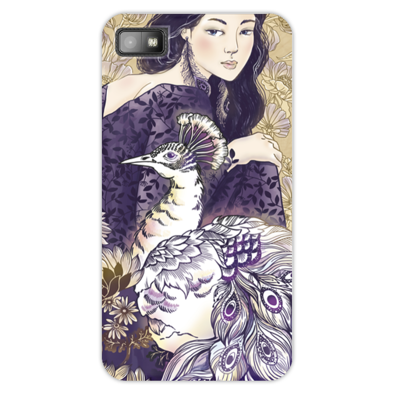 Чехол для Blackberry Z10 Printio Девушка и павлин schleih павлин