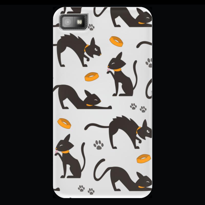 Чехол для Blackberry Z10 Printio Чёрные кошки дверца для кошки в новосибирске