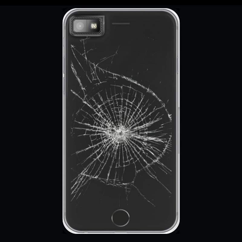 все цены на Чехол для Blackberry Z10 Printio Разбитый экран онлайн