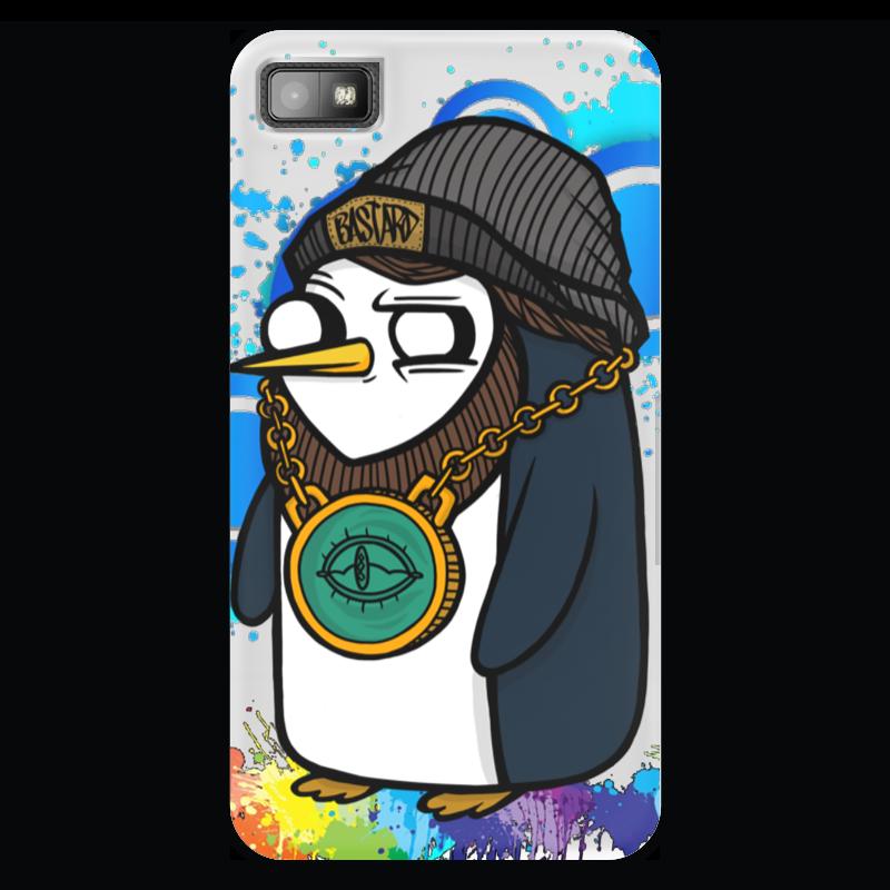 Чехол для Blackberry Z10 Printio Gangsta gunter