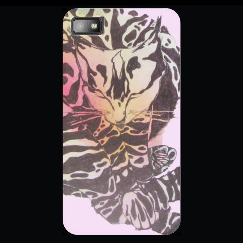 Чехол для Blackberry Z10 Printio Спокойной ночи! спящая кошка спящая красавица