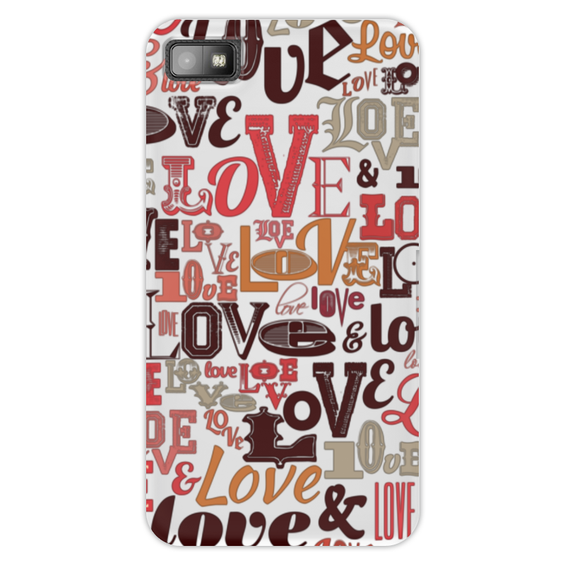 Чехол для Blackberry Z10 Printio Love. чехлы для телефонов with love moscow силиконовый дизайнерский чехол для meizu m3s перья