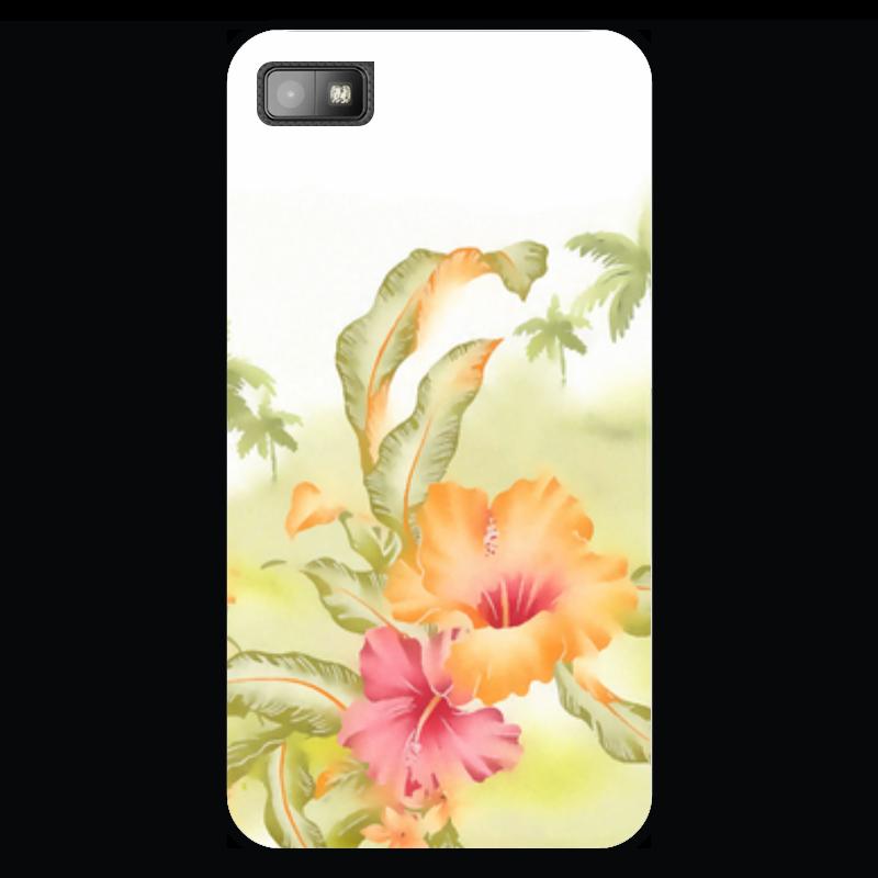 Чехол для Blackberry Z10 Printio Тропические цветы, пальмы. купить горшок для пальмы большой