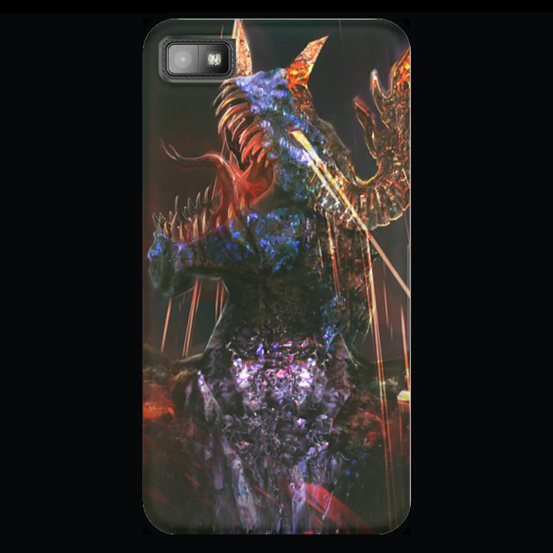 Чехол для Blackberry Z10 Printio Furious storm dragon/head чехол для blackberry z10 printio furious storm dragon head