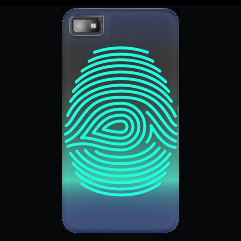 Чехол для Blackberry Z10 Printio Отпечаток пальца чехол для карточек цветные совы на синем фоне дк2017 112
