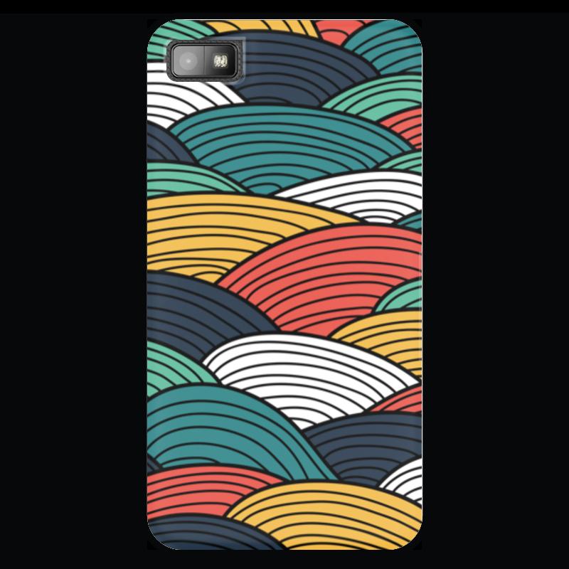 Чехол для Blackberry Z10 Printio Цветные волны