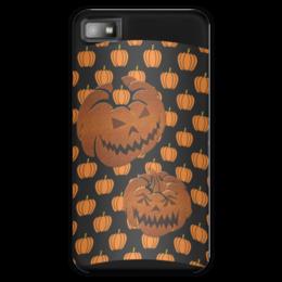 "Чехол для Blackberry Z10 ""Хеллоуин"" - хэллоуин, рожица, тыква, тыквы, чудовище"