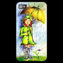 """Чехол для Blackberry Z10 """"Дождик, дождик, уходи!"""" - дети, детское, ручная работа, детский рисунок, детская работа"""