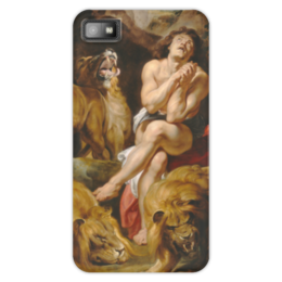 "Чехол для Blackberry Z10 ""Даниил в яме со львами (картина Рубенса)"" - картина, библия, рубенс"