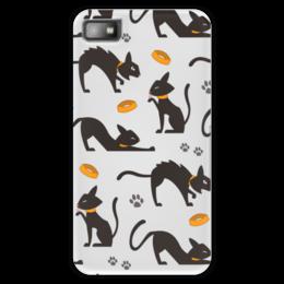 """Чехол для Blackberry Z10 """"Чёрные кошки"""" - кот, кошка, животные, коты, котёнок"""