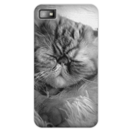 "Чехол для Blackberry Z10 """"Сонное царство"" "" - кот, животные, cat, кошки, чернобелое, sleeping, black n white"
