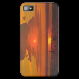 """Чехол для Blackberry Z10 """"Красный закат (картина Архипа Куинджи)"""" - картина, архип куинджи"""
