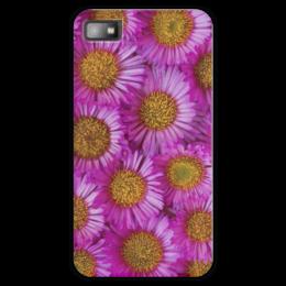 "Чехол для Blackberry Z10 ""Астры"" - цветы, желтый, розовый, лепесток, астры"