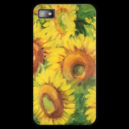 "Чехол для Blackberry Z10 ""Подсолнухи"" - цветы, 8 марта, подсолнухи, sunflowers, подарок на 8 марта"