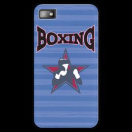 "Чехол для Blackberry Z10 ""Боксер"" - звезда, надпись, полоска, бокс, боксер"