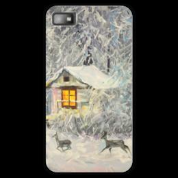 """Чехол для Blackberry Z10 """"Зимний домик"""" - зима, дом, зимний пейзаж, валерия меценатова"""