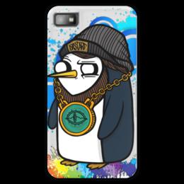 "Чехол для Blackberry Z10 ""Gangsta Gunter"" - пингвин, adventure time, время приключений, gunter"