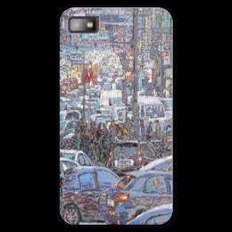 """Чехол для Blackberry Z10 """"Охотный ряд"""" - арт, москва, город, пейзаж, живопись"""