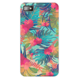 "Чехол для Blackberry Z10 ""Джунгли"" - цветы, лес, краски, акварель, джунгли"