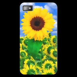 "Чехол для Blackberry Z10 ""Подсолнух"" - лето, цветок, небо, облака, подсолнух"