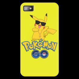 "Чехол для Blackberry Z10 ""Pokemon GO"" - игра, покемон, пикачу, доллар, pikachu"