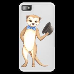 """Чехол для Blackberry Z10 """"Вежливый сурикат"""" - животные, шляпа, приветствие, зверек, сурикат"""