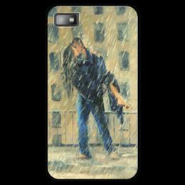 """Чехол для Blackberry Z10 """"Влюбленные"""" - любовь, love, влюбленные, объятия, под дождем"""