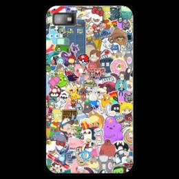 """Чехол для Blackberry Z10 """"STICKERS"""" - арт, дизайн, аниме, мульт, фэн-арт"""