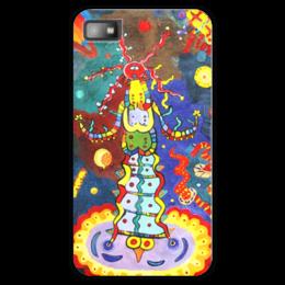 """Чехол для Blackberry Z10 """"Космический арт"""" - ручная работа, детский рисунок, от детей, детская работа"""