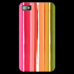 """Чехол для Blackberry Z10 """"Радуга"""" - узор, радуга, рисунок, полосатый, красочный"""