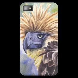 """Чехол для Blackberry Z10 """"Филиппинский орел """" - животные, птица, фиолетовый, орел, иллюстрация"""