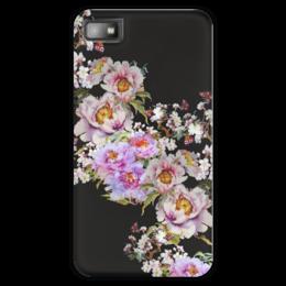 """Чехол для Blackberry Z10 """"Розовые пионы."""" - flowers, розовый, пионы, живопись, цветочное"""