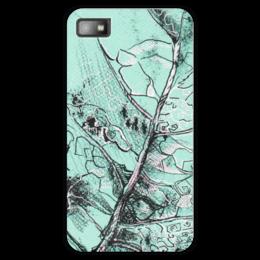 """Чехол для Blackberry Z10 """"Весенняя осень"""" - лист, рисунок, фактура"""