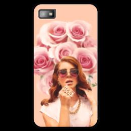 """Чехол для Blackberry Z10 """"Lana Del Rey"""" - цветы, портрет, lana del rey, лана дель рей"""