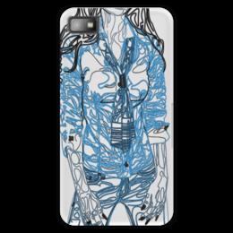 """Чехол для Blackberry Z10 """"Шейный платок"""" - девушка, фигура, галстук, рубашка, джинсы"""