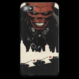 "Чехол для Blackberry Z10 ""Red skull / Красный череп / Marvel"" - война, комикс, пантера, marvel, танки, красный череп, red skull"