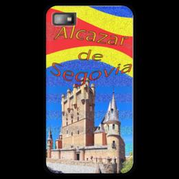 """Чехол для Blackberry Z10 """"Замки Испании. Замок Сеговия."""" - желтый, испания, замок, полоски, крепость"""