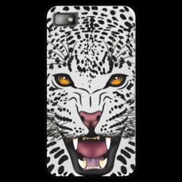 """Чехол для Blackberry Z10 """"Леопард"""" - животные, рисунок, коты, леопард, хищники"""