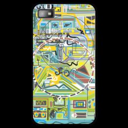 "Чехол для Blackberry Z10 ""Березка"" - арт, абстракция, фигуры, бирюзовый"
