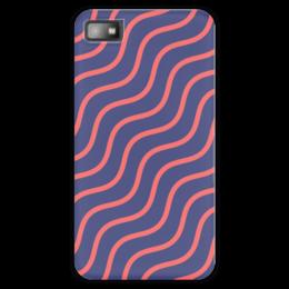 """Чехол для Blackberry Z10 """"Волнистый"""" - узор, рисунок, полосы, стильный, волны"""