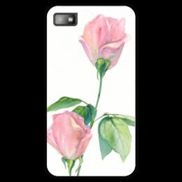 "Чехол для Blackberry Z10 ""Нежность"" - роза, для девушки, нежность, акварель, живопись"