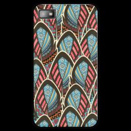 """Чехол для Blackberry Z10 """"Перья Бохо"""" - перо, перья, бохо, майя"""